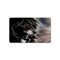 Angry Male Lion Digital Art Magnet (name Card)