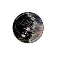 Angry Male Lion Digital Art Hat Clip Ball Marker (4 Pack)