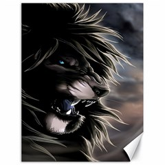 Angry Male Lion Digital Art Canvas 18  X 24   by Samandel