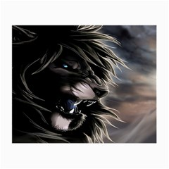 Angry Male Lion Digital Art Small Glasses Cloth (2 Side)