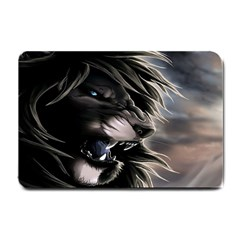 Angry Male Lion Digital Art Small Doormat