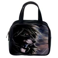 Angry Male Lion Digital Art Classic Handbags (one Side)
