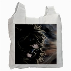 Angry Male Lion Digital Art Recycle Bag (one Side)
