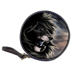 Angry Male Lion Digital Art Classic 20 Cd Wallets