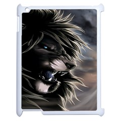 Angry Male Lion Digital Art Apple Ipad 2 Case (white)