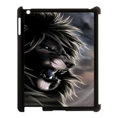 Angry Male Lion Digital Art Apple Ipad 3/4 Case (black)