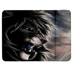 Angry Male Lion Digital Art Samsung Galaxy Tab 7  P1000 Flip Case by Samandel