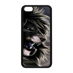 Angry Male Lion Digital Art Apple Iphone 5c Seamless Case (black) by Samandel