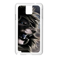 Angry Male Lion Digital Art Samsung Galaxy Note 3 N9005 Case (white)