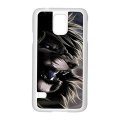 Angry Male Lion Digital Art Samsung Galaxy S5 Case (white)