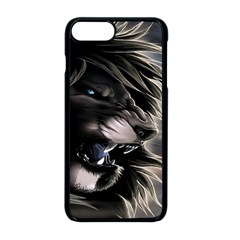 Angry Male Lion Digital Art Apple Iphone 8 Plus Seamless Case (black)