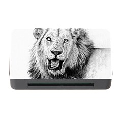 Lion Wildlife Art And Illustration Pencil Memory Card Reader With Cf