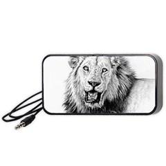 Lion Wildlife Art And Illustration Pencil Portable Speaker