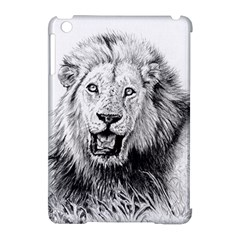 Lion Wildlife Art And Illustration Pencil Apple Ipad Mini Hardshell Case (compatible With Smart Cover)