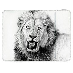 Lion Wildlife Art And Illustration Pencil Samsung Galaxy Tab 7  P1000 Flip Case by Samandel