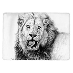 Lion Wildlife Art And Illustration Pencil Samsung Galaxy Tab 10 1  P7500 Flip Case