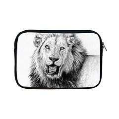 Lion Wildlife Art And Illustration Pencil Apple Ipad Mini Zipper Cases by Samandel