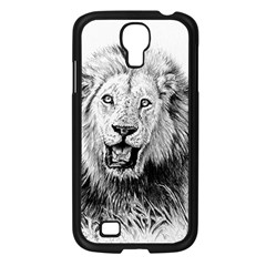 Lion Wildlife Art And Illustration Pencil Samsung Galaxy S4 I9500/ I9505 Case (black)