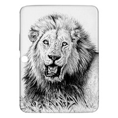 Lion Wildlife Art And Illustration Pencil Samsung Galaxy Tab 3 (10 1 ) P5200 Hardshell Case
