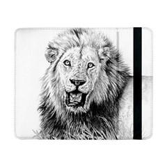 Lion Wildlife Art And Illustration Pencil Samsung Galaxy Tab Pro 8 4  Flip Case