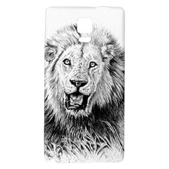Lion Wildlife Art And Illustration Pencil Galaxy Note 4 Back Case