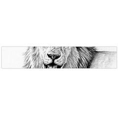 Lion Wildlife Art And Illustration Pencil Large Flano Scarf