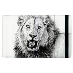 Lion Wildlife Art And Illustration Pencil Apple Ipad Pro 9 7   Flip Case