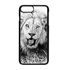 Lion Wildlife Art And Illustration Pencil Apple Iphone 8 Plus Seamless Case (black)