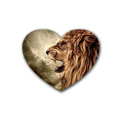 Roaring Lion Rubber Coaster (heart)