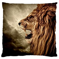 Roaring Lion Large Cushion Case (two Sides)