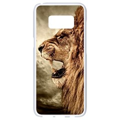 Roaring Lion Samsung Galaxy S8 White Seamless Case