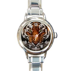 The Tiger Face Round Italian Charm Watch