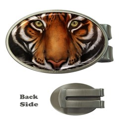 The Tiger Face Money Clips (oval)
