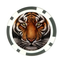 The Tiger Face Poker Chip Card Guard