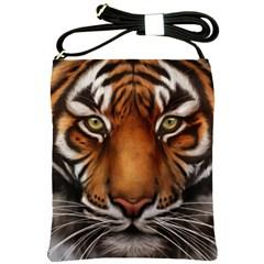 The Tiger Face Shoulder Sling Bags