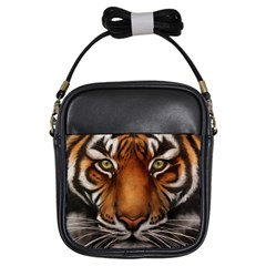 The Tiger Face Girls Sling Bags