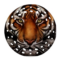 The Tiger Face Ornament (round Filigree) by Samandel