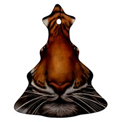 The Tiger Face Christmas Tree Ornament (two Sides)