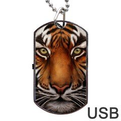 The Tiger Face Dog Tag Usb Flash (one Side)