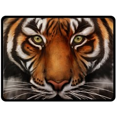 The Tiger Face Double Sided Fleece Blanket (large)