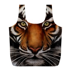 The Tiger Face Full Print Recycle Bags (l)