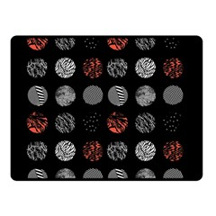 Digital Art Dark Pattern Abstract Orange Black White Twenty One Pilots Double Sided Fleece Blanket (small)  by Samandel