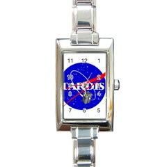 Tardis Nasa Parody Rectangle Italian Charm Watch