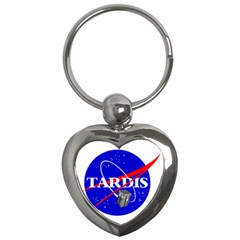 Tardis Nasa Parody Key Chains (heart)  by Samandel