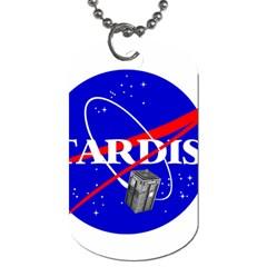 Tardis Nasa Parody Dog Tag (two Sides) by Samandel