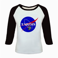 Tardis Nasa Parody Kids Baseball Jerseys