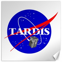 Tardis Nasa Parody Canvas 12  X 12