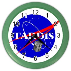 Tardis Nasa Parody Color Wall Clocks
