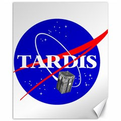 Tardis Nasa Parody Canvas 11  X 14   by Samandel