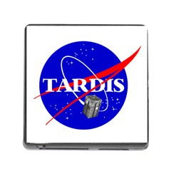 Tardis Nasa Parody Memory Card Reader (square)